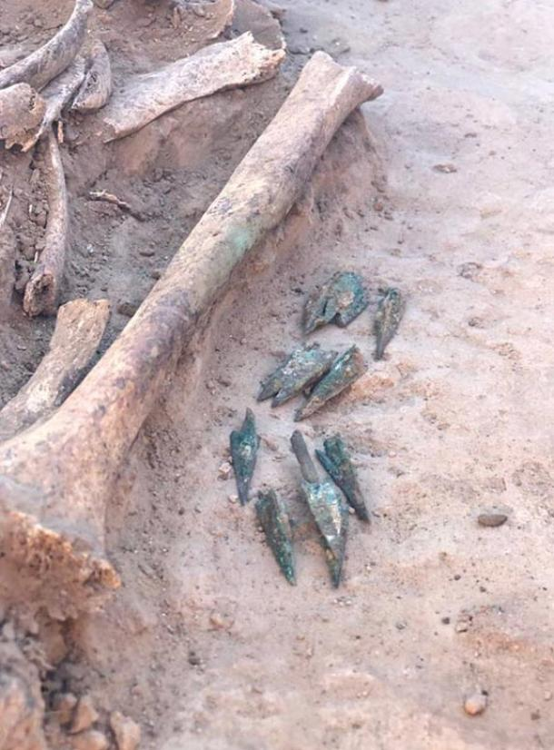 Arrow heads were found by the skeletal remains of the noblewoman.