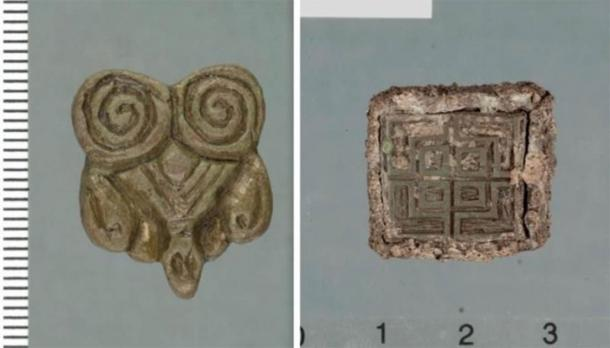 Artifacts discovered by Tor-Kjetil Krokmyrdal at Sandtorg farm, believed to have once been a Viking trading station, include objects of Eastern origin (on the left) and from the British Isles (on the right). (Images: Julie Holme Damman, The Arctic University Museum of Norway and Tor-Ketil Krokmyrdal)