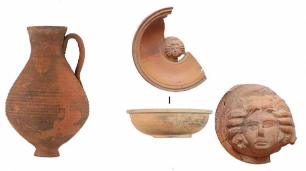 Some of the ceramic artifacts found at the Crimean Scythian necropolis. (Russian Institute of Archaeology RAS)