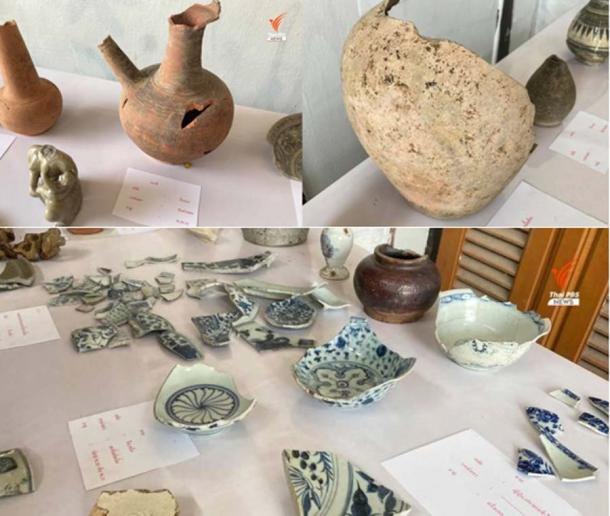 Artifacts recovered from the site of the ancient Lan Na Kingdom palace so far. (Thai PBS)