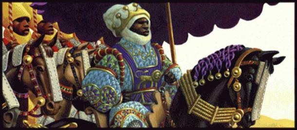 Artist Illustration of Mansa Musa.
