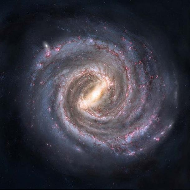 Artist's conception of the Milky Way. (Public Domain)