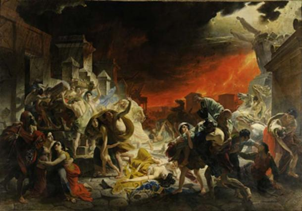 Artist's impression of the eruption of Mount Vesuvius in Pompeii. (Dcoetzee / Public Domain)