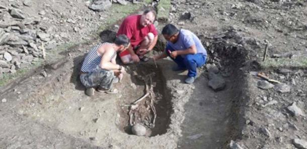 Artur Kharinsky and his colleagues found the grave in Northern Mongolia, close to the Russian border. (Artur Kharinsky/The Siberian Times)