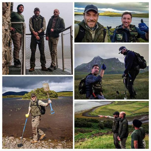 Ashley Cowie with the team of treasure hunters looking for the lost Jacobite gold in the Kyle of Tongue area of Scotland, which is now a YouTube video called HIGHLAND GOLD. (Ashley Cowie blog site)