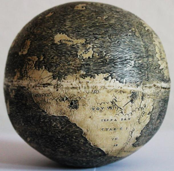 Asia on the ostrich egg globe, showing the large peninsula jutting southward at the right which is evidence of the influence of Henricus Martellus. Photo: Washington Map Society.