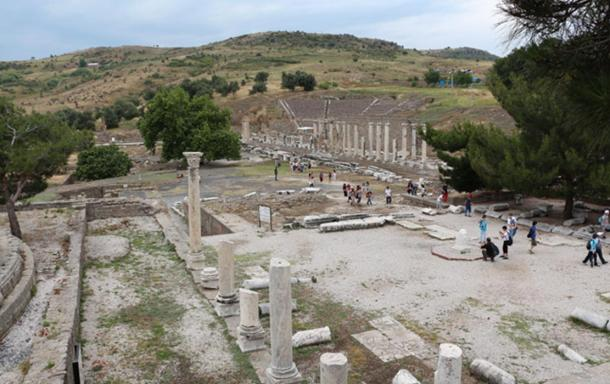 The remains of the Asklepion in Pergamon