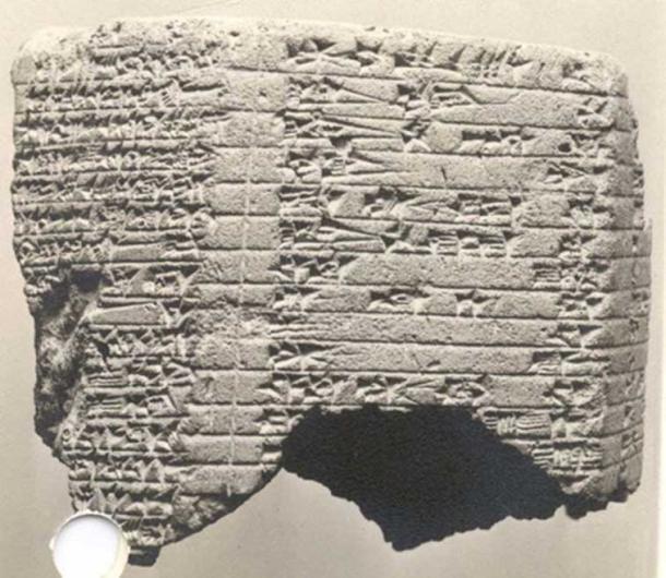 Assyrian cuneiform prism inscription of Esarhaddon