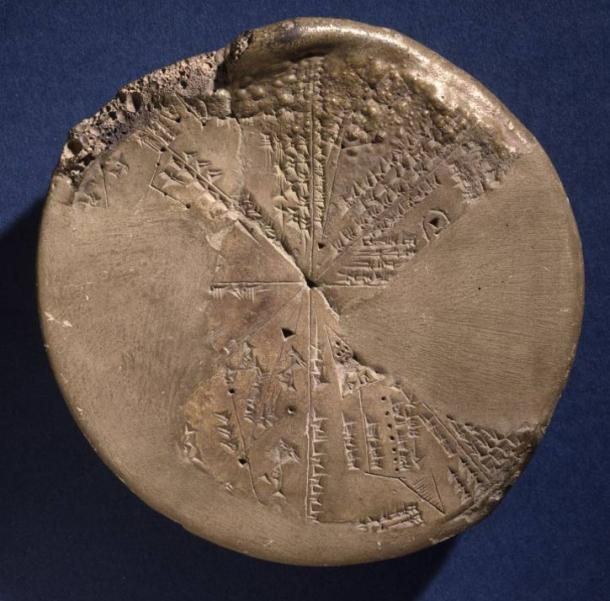Assyrian star planisphere from Assyrian Library at Nineveh (668-627 BC) British Museum.