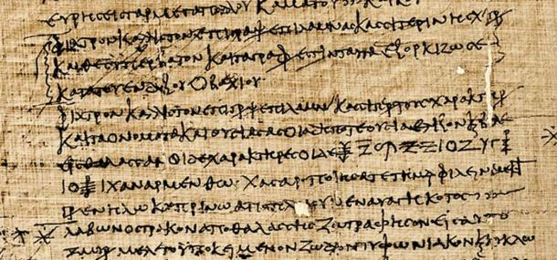 Asterisk, Greek papyri.
