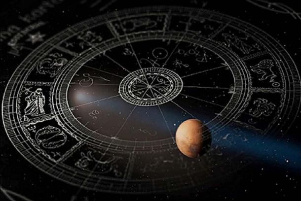 The Cosmos with overlay of the Astrological Zodiac.