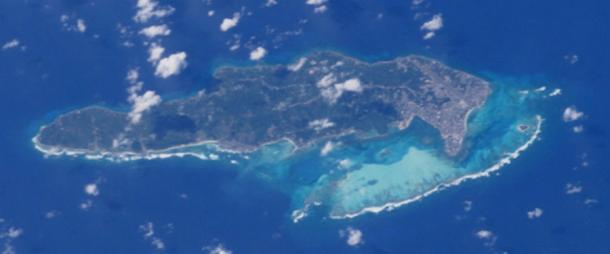 "Astronaut's Photograph of San Andrés Island by NASA-Johnson Space Center. ""Astronaut Photography of Earth - Display Record."" (Public Domain)"