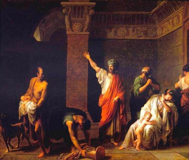 King Astyages orders Harpagus to kill young Cyrus. (JarektUploadBot / Public Domain)