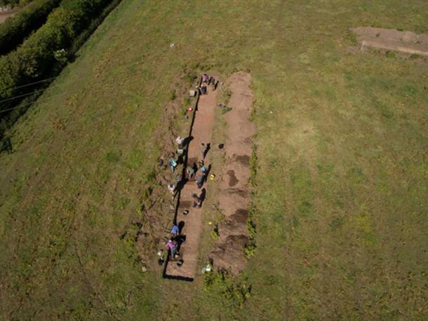 At the dig site of Aebbe's monastery the team discovered bones which have dated back to the 7th to 9th centuries. (Maiya Pina- Dacier / DIGVENTURES/AERIAL-CAM)