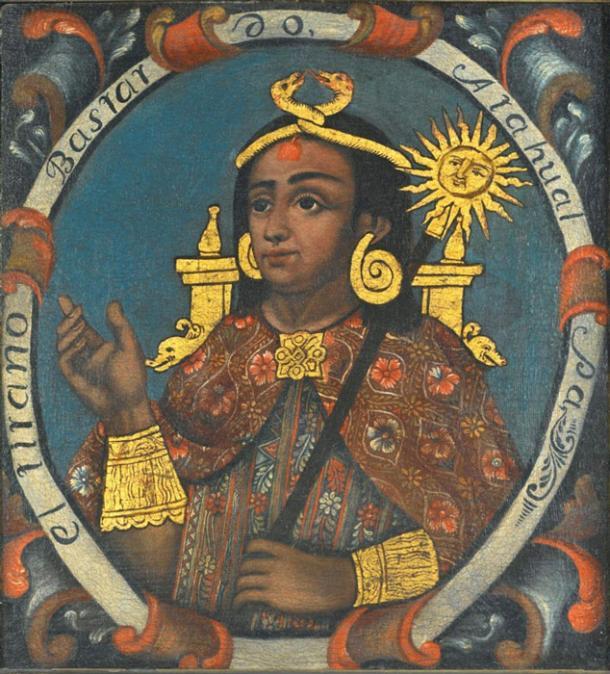 Atahualpa, Fourteenth Inca, 1 of 14 Portraits of Inca Kings. (Public Domain)