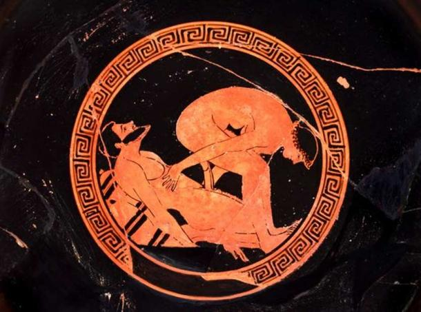 Athenian red-figure kylix, attributed to Dokimasia Painter, c. 480 BC. British Museum. The Trustees of the British Museum