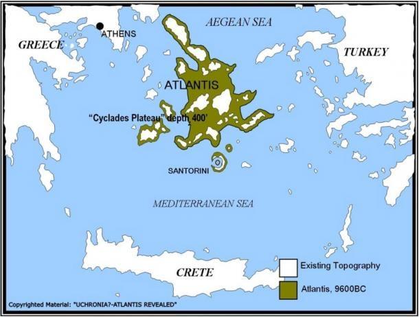 Atlantis area map