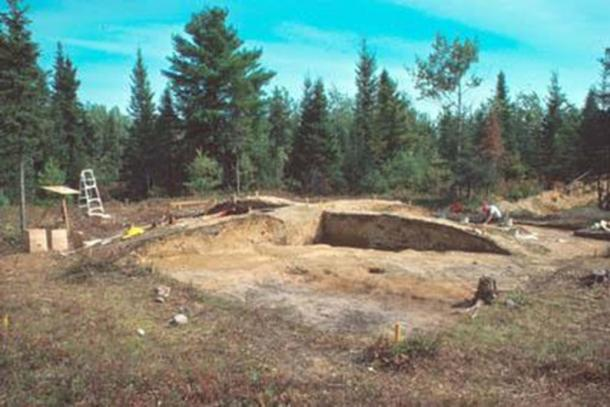 The Augustine Mound during excavations.