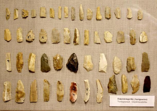 Aurignacian stone tools – Microliths. (Th. Fink Veringen / CC BY-SA 3.0)