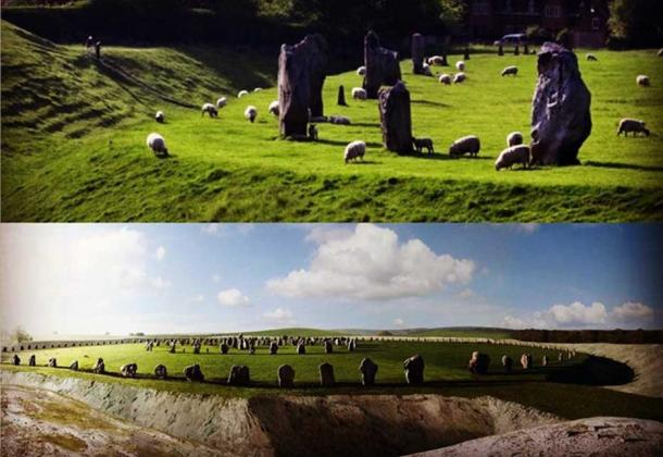 Reconstruction of Avebury Stone Circle, Wiltshire, England. (Author provided)