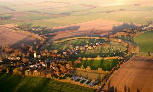 Avebury stone circle, the largest known stone circle in the world.