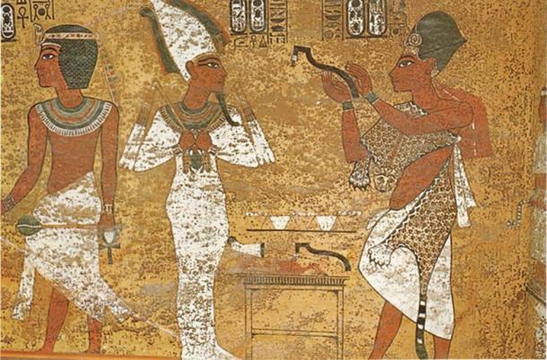 Ay as Sem Priest in tomb of King Tutankhamun.