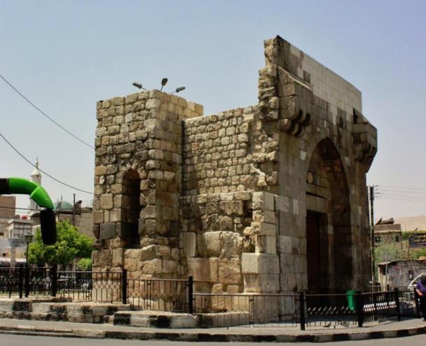 Bab Touma gate in Damascus.