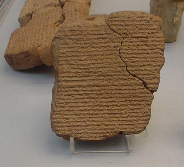 A Babylonian tablet recording Halley's comet during an appearance in 164 BC. At the British Museum in London. (Public Domain)