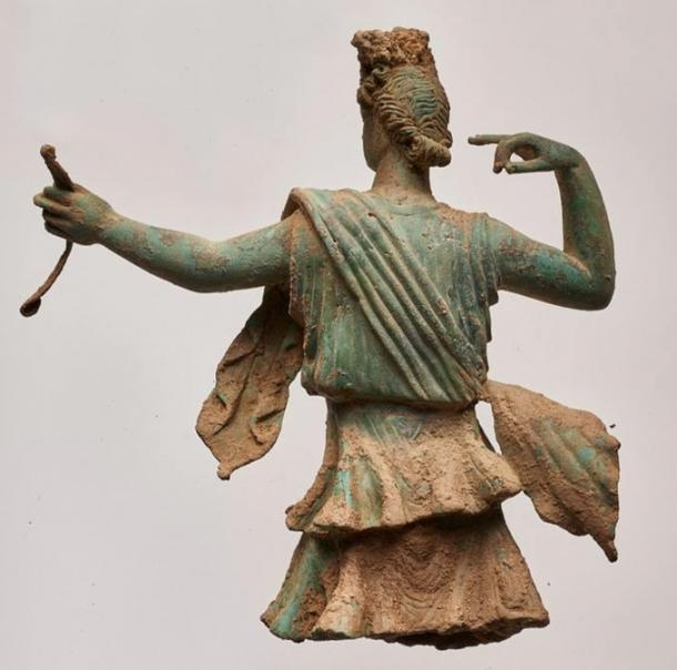 Back view of the Artemis sculpture from Aptera, Crete.