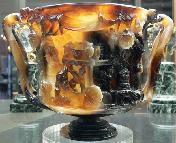 Back view of the Cup of the Ptolemies.