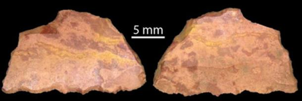 Backed artefact dated to 43,000 years ago showing evidence of use on its working edge. Jo McDonald, Author provided