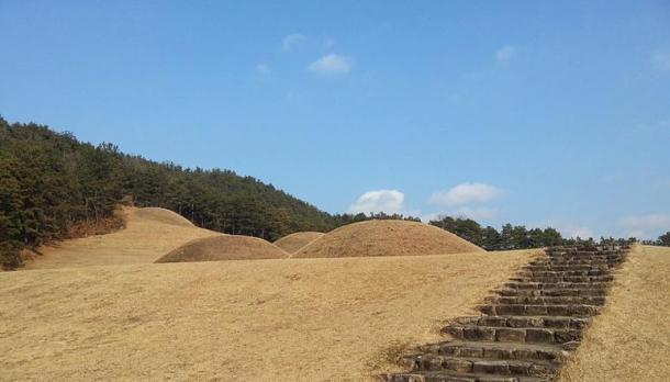 The Baekje Royal Tombs. Buyeo, South Korea.