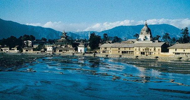 The Bagmati River.