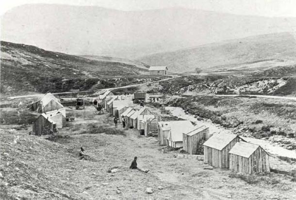 Photo of Baile an Or taken by Alexander Johnston in 1869.