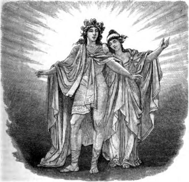 Balder und Nanna (1882) by Wägner, Wilhelm.