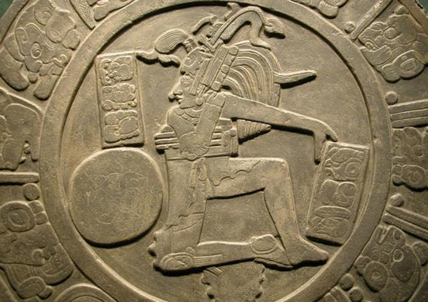 Ball player disc from Chinkultic, Chiapas