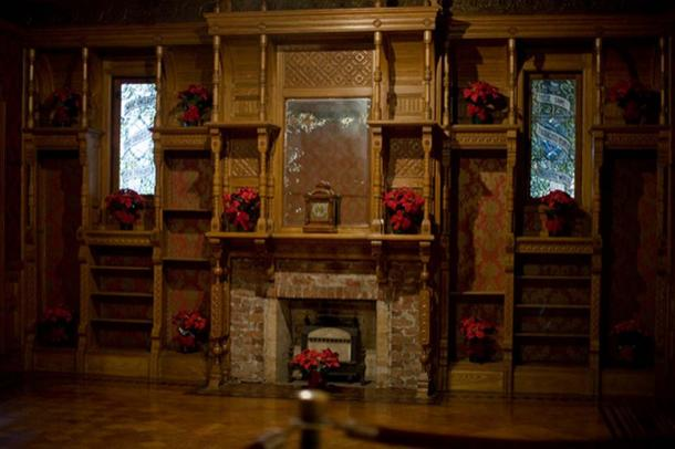 The Ballroom Fireplace at the Winchester House.