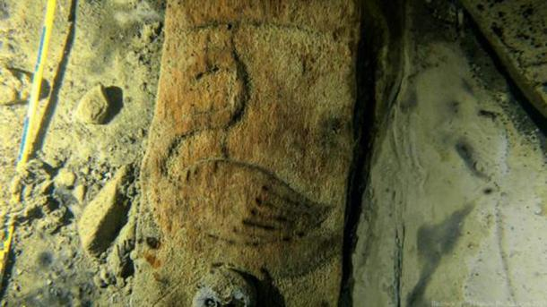 A bird motif on the Baltic Sea ship, which was initially discovered on the seafloor off the coast of southern Finland in July 2020, and then intensively researched by various experts. (Handle Productions)