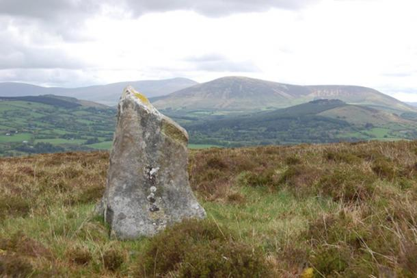 Stone at Baltinglass Hill, Wicklow, Ireland.