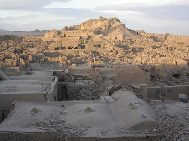 Bam and its cultural landscape. The ruins of Arg-é Bam are in the background.