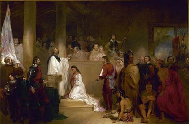 The Baptism of Pocahontas (1840) by John Gadsby Chapman.