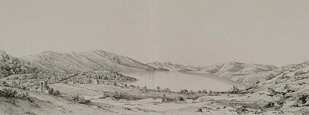 Bargylia in 1838 by Léon de Laborde. (Public Domain)