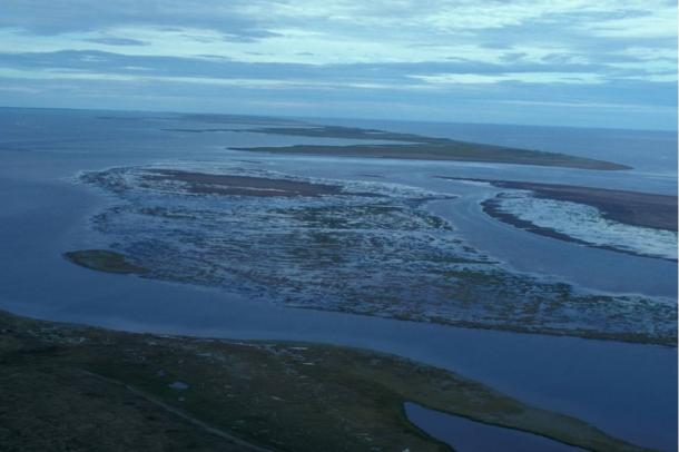 Barrier islands and lagoons at Cape Espenberg