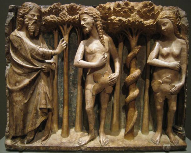 Bartolomeu Rubio, The Lord Reprimanding Adam and Eve, ca. 1362