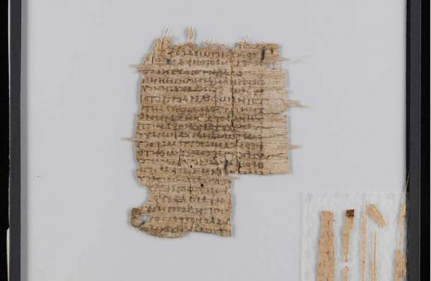 Basel papyrus, after conservation: cleaned, smoothed and consolidated. Source: University of Basel
