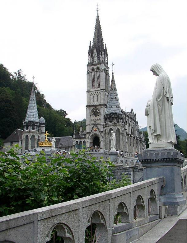 The Basilica of the Immaculate Conception, commonly known as the Upper Basilica, Lourdes.