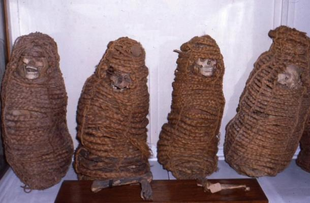 asket mummies were prepared by treating them with smoke and then wrapping them and placing them in baskets.