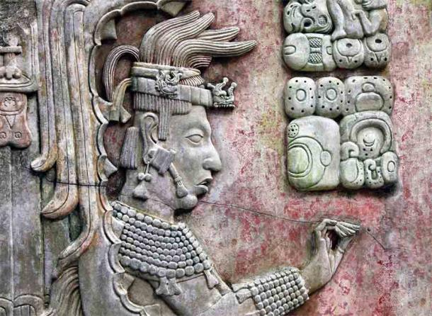 Bas-relief carving with of a Maya king from Palenque, Chiapas, Mexico. (frenta / Adobe Stock)