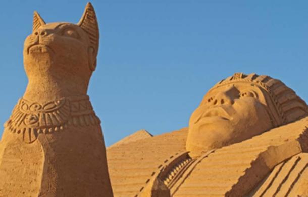 Bastet the Egyptian feline goddess. Source: malcapone / Adobe Stock.
