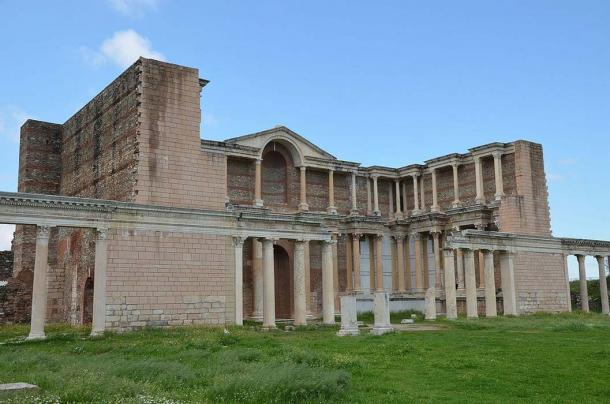 A Bath-Gymnasium complex from the late 2nd - early 3rd century AD, Sardis, Turkey.